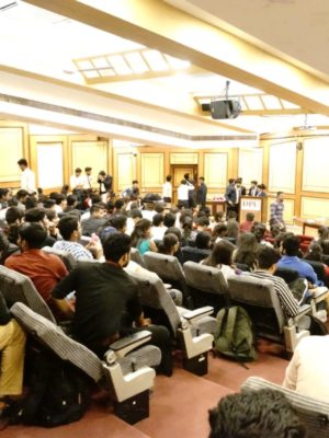 Huge participation at Induction program at DY Patil College