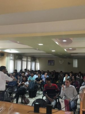 Rohit Ghosh, CEO addressing students