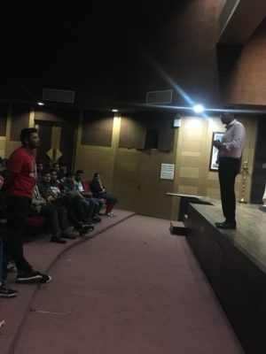 Rohit Ghosh, Founder, Skilledge talking to students